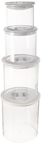 Oggi Stack 'N Store 4 Piece Canister Set, (Acrylic Canister Set)