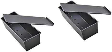 CUTICATE 2個の長方形ノンスティックモールドトーストローフパンベーキングパンベーカリー900g