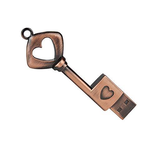 zjr USB Drive 32 gb Pendrive Metal Copper Heart Key Model USB Flash Drive Memory Stick U Disk Metal Key flashdrive Cute by zjr (Image #8)