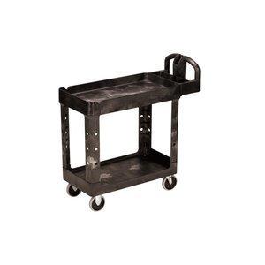 Bla 2 Shelf Utility Cart (Rubbermaid Commercial Products RCP 4500-88 BLA Utility 2-Shelf Cart 45.25L 33.25H 500 Lb black by Rubbermaid)