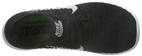 Scarpe da Flyknit Nero Corsa Nike Black Free RN White Donna Bianco Wmns aAxnw