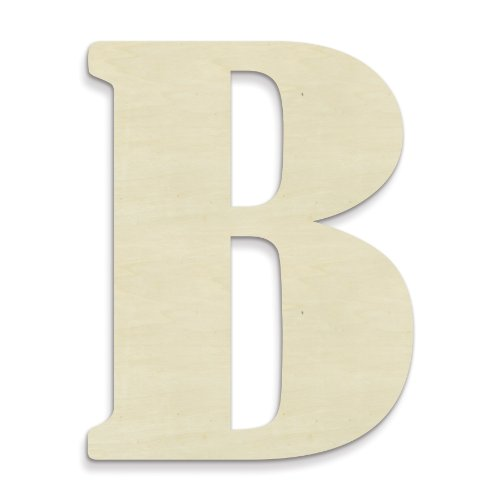 UNFINISHEDWOODCO 23-Inch Unfinished Wood Letter, Large, Letter B