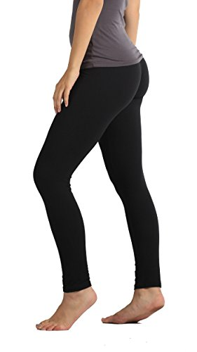 Conceited Premium Ultra Soft Leggings - Printed Leggings - High Waist - Regular and Plus Size (Small/Medium, Solid Black)