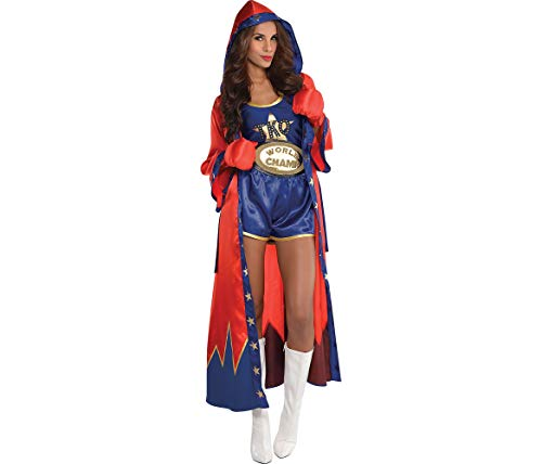 AMSCAN Knockout Sexy Boxer Halloween Costume for Women, Large, with Included Accessories