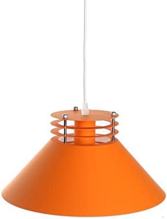 Pendant Light, Ceiling Hanging Pendant Lights, Umbrella Shade Vintage Classic Industrial Lamp Shade for Dining Room Kitchen Island Living Room Orange