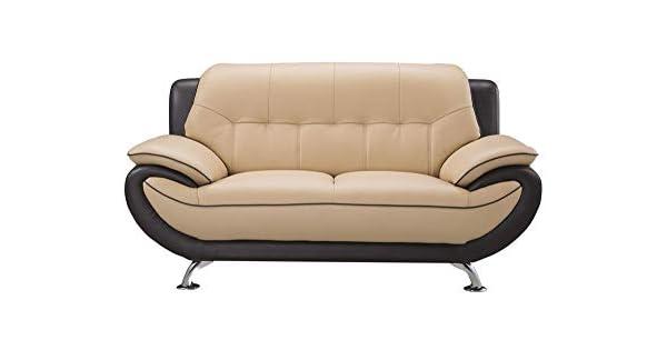 Amazon.com: Benjara BM194456 - Sofá de madera tapizado con ...