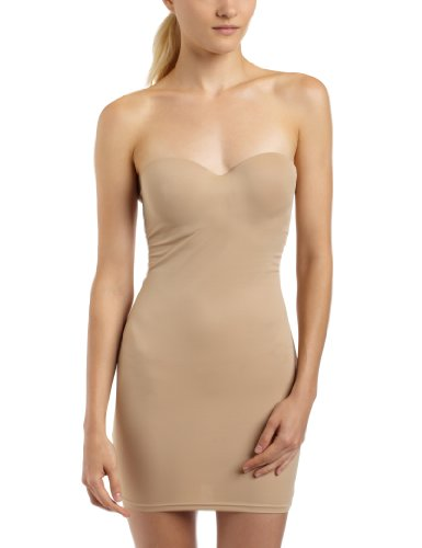 - Flexees by Maidenform Women's Firm Control Strapless Slip with Convertible Straps, Body Beige,38C