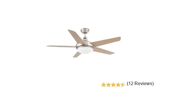Faro Barcelona 33137 - OVNI Ventilador de techo con luz 5 Palas diametro 132 cm con Mando a distancia: Amazon.es: Iluminación