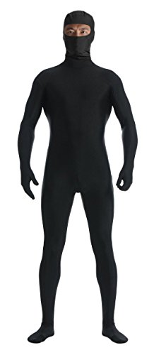 Hole In The Body Costumes (Marvoll Unisex Spandex Lycra Eyes Hole Full Bodysuit (Small, Black))
