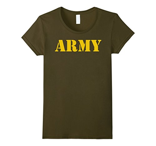 Womens Vintage Army Logo Shirt APFU Workout Tee Medium Olive - Authentic Green Ranger Costumes