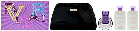 Bvlgari Omnia Amethyste for Women 4 Piece Gift Set (2.2 oz Eau de Toilette / 2 X 2.5 oz Body Lotion/Beauty Pouch)
