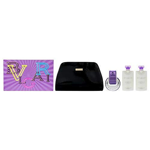 Bvlgari Bvlgari Omnia Amethyste By Bvlgari for Women - 4 Pc 2.2oz Edt Spray, 2 X 2.5oz Body Lotion, Pouch, 4count