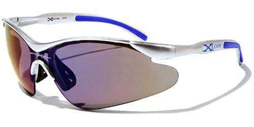 X-Loop Lunettes de Soleil - Sport - Cyclisme - Ski - Running - Moto - Voile / Mod. 3529 Gris Bleu 6nZv0