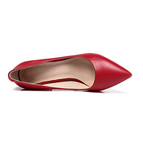Femme Red 5 Compensées SDC06017 36 Sandales AdeeSu Rouge AtF4wF