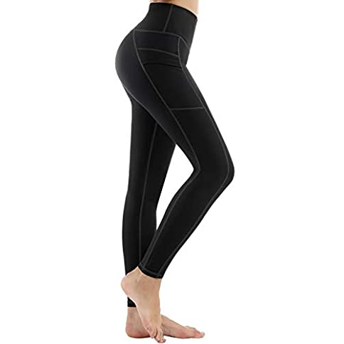 - 31mPRNGFfgL - LifeSky Yoga Pants for Women with Pockets High Waist Tummy Control Leggings 4 Way Stretch Soft Athletic Pants