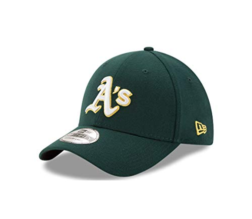 - New Era MLB Oakland Athletics Road Team Classic 39Thirty Stretch Fit Cap, Medium/Large, Green