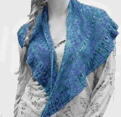 Shawl Knit Kit in Reserve Sport (Silk/Bamboo/Merino Blend) Yarn - Ocean