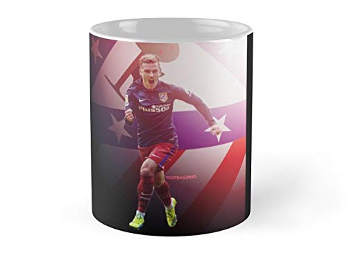 (SeaZTh-Antoine Griezmann - Atletico Madrid- 11oz Mug - Features wraparound prints - Made from Ceramic - Best gift for family friends)
