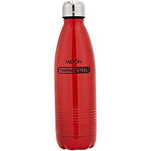 Milton Thermosteel Duo Deluxe 750 Bottle Style Flask, 700 ml, Red