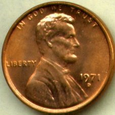 Lincoln Memorial Cent Roll - 1971-D Lincoln Memorial Cents Bank Roll, Uncirculated