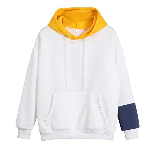 Sudadera Tops Impresas larga de Aimee7 Camisa Mujer manga Cartas Amarillo Hoodie xWSRxqgYwp