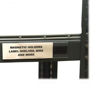 Aigner HOL-DEX Magnetic Shelf/Bin Label Holders, 1 x 4 Inches, 25 per Pack, WR1254 Aigner Hol Dex Label Holders