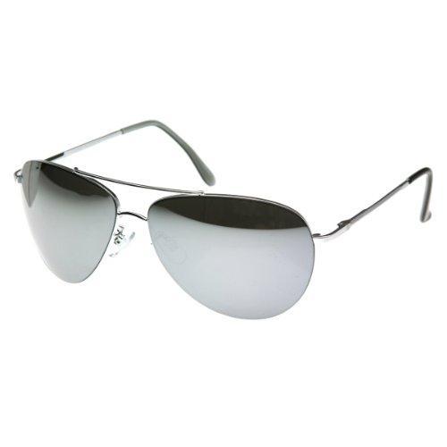 a7af3c3d8c952 70%OFF zeroUV - Full Mirror Aviators Metal Aviator Sunglasses ...