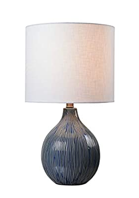 Kenroy Home 33161DBLU Accent Lamp, Distressed Blue Ceramic Finish