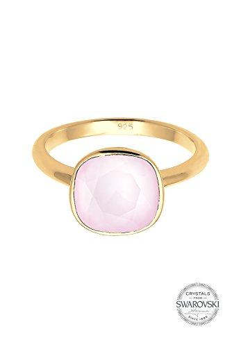 Elli-Bagues-Femme-Cristal SwarovskiRose Pastelle-Plaqué or -Cristal Swarovski-Rose -0605670316_58