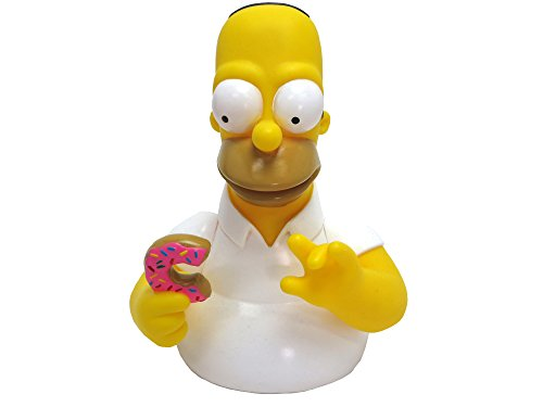 Simpsons The Homer with Donut Bust Bank Action Figure (Bank Simpsons)