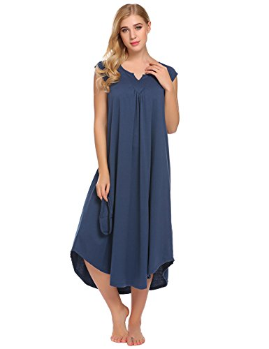 L'amore Nightgown Women V Neck Sleeveless Sexy Sleepwear Lingerie Sleep - Lined Jersey Sleeveless