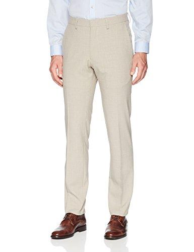 (Kenneth Cole REACTION Men's Stretch Stria Weave Slim Fit Dress Pant, tan 36Wx32L)