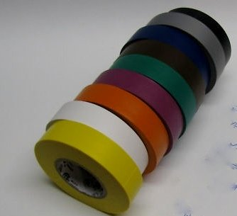 Set of 10 Different Color Rolls of Electrical Tape