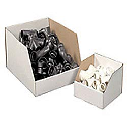Office Depot Brand White Jumbo Open Top Parts Bin Boxes, 10in x 12in x 18in, Pack of 25