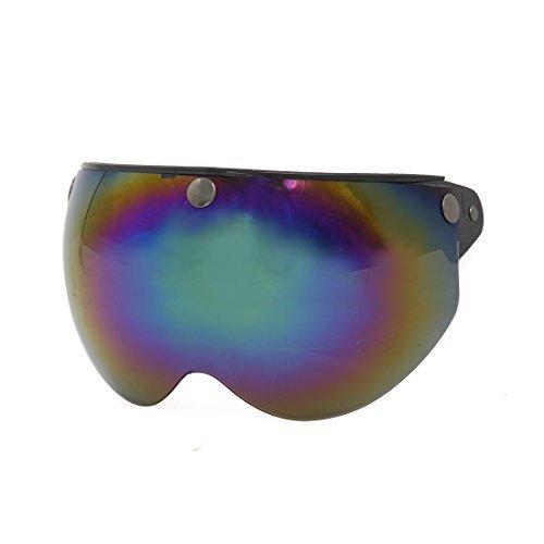 nap Half Len Visor Shield for 3/4 Open Face Motorcycle Helmet (Snap Visor)