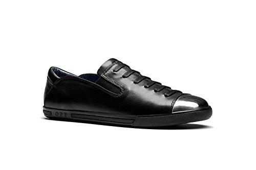 OPP Hombres Sneaker Zapatos de Piel Dise?o de Marca Negro
