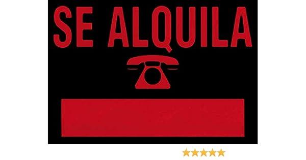 ROTULAUTO - Cartel Plast Se Alquila Rojo Rotulauto 500X350 Mm