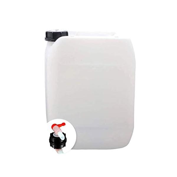 31mPp49rMWL S-Pro Wasserkanister Trinkwasser mit Hahn, Lebensmittelecht, 10l für Haus, Garten und Camping Wasserbehälter, leer