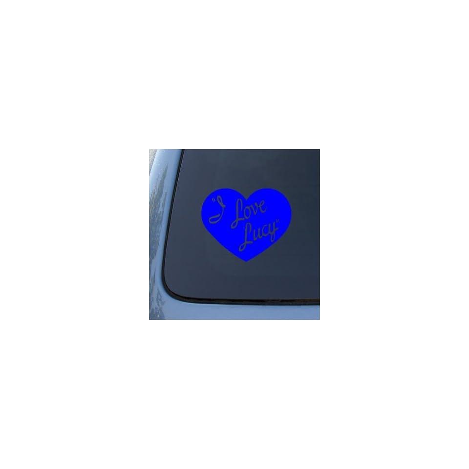 I LOVE LUCY   Lucille Ball   Vinyl Car Decal Sticker #1799  Vinyl Color Blue