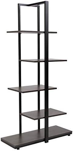 Flash Furniture Homewood Collection 5 Tier Decorative Etagere Storage Display Unit Bookcase