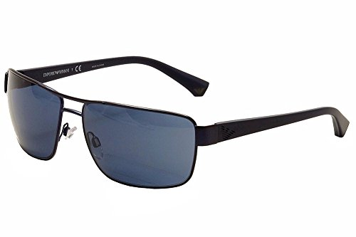 Emporio Armani EA2031 311180 Matte Blue EA2031 Rectangle Sunglasses Lens - Armani Sunglasses Blue