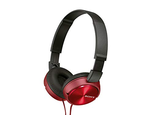 Sony MDRZX310AP Over Head Headphones with Mic  Red