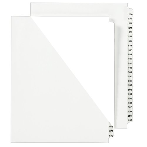 Avery Standard Collated Legal Dividers, Letter Size 551-600 Tab Set (1351) by Avery