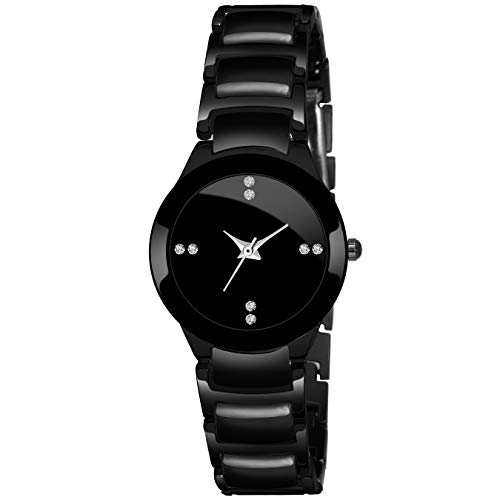 DAIZEL Analogue Girls' & Women's Watch (Black Dial Black Colored Strap)