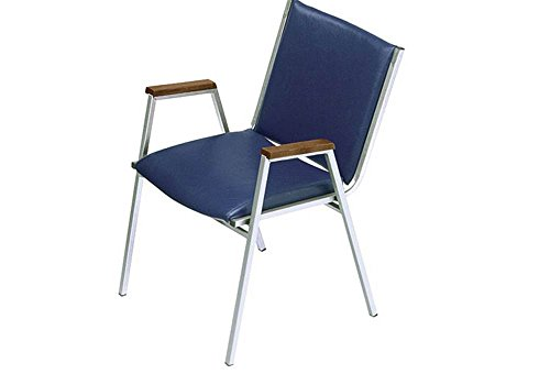 - Vinyl Stack Chair with Arms - 2