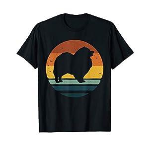 Keeshond Vintage Retro Dog Mom Dad Gift T-Shirt 50