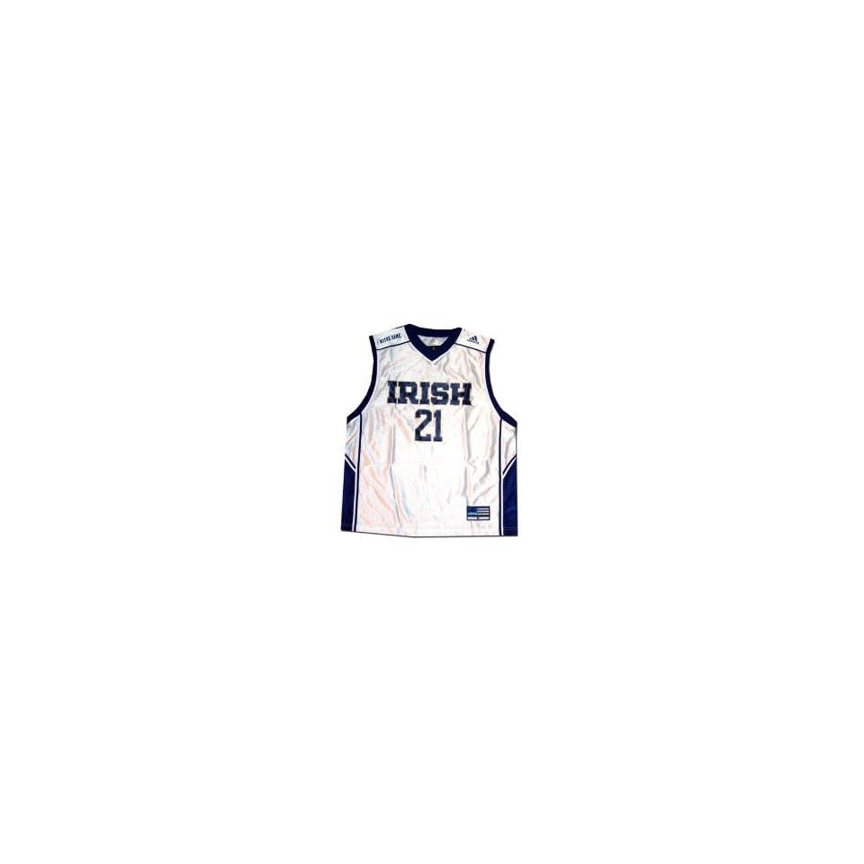 Adidas Notre Dame Fighting Irish #21 White Replica Basketball Jersey