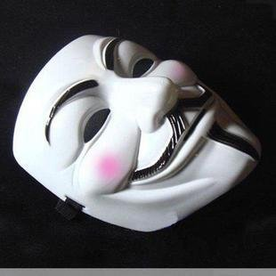 Famixyal Yellow or White Guy Fawkes V Mask Vendetta Collector's Edition Mask Masquerade Mask Halloween Party Mask Cosplay Mask One Size (white)]()