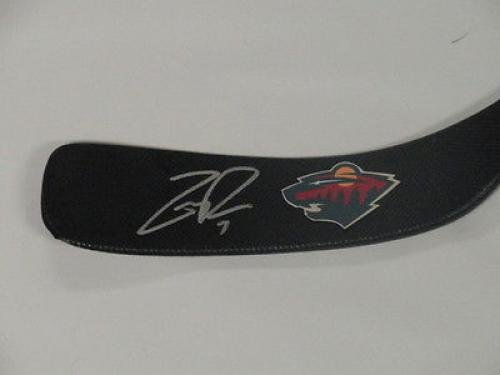 Amazon.com: Zach Parise Signed Hockey Stick Minnesota Wild ...