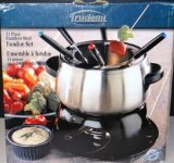 Trudeau Stainless Fondue Set 11 Piece